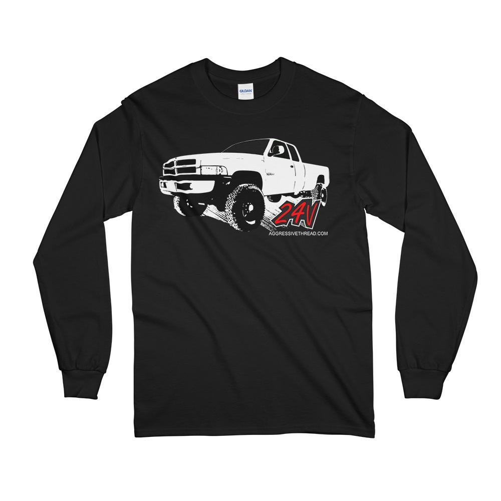 2nd gen Dodge Ram Cummins Long Sleeve Shirt - Aggressive Thread Diesel Truck Apparel