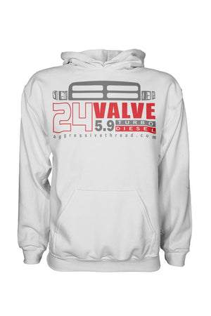 Cummins 24v Diesel Truck Hoodie | Aggressive Thread Truck Apparel