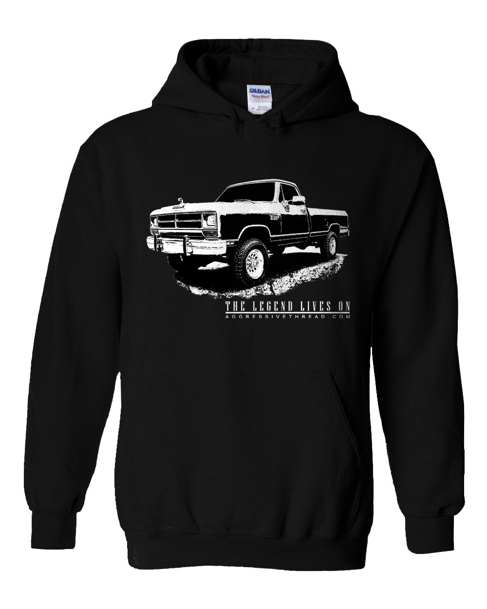 First Gen Dodge Ram Truck Hoodie Sweatshirt | Aggressive Thread Diesel Truck Apparel