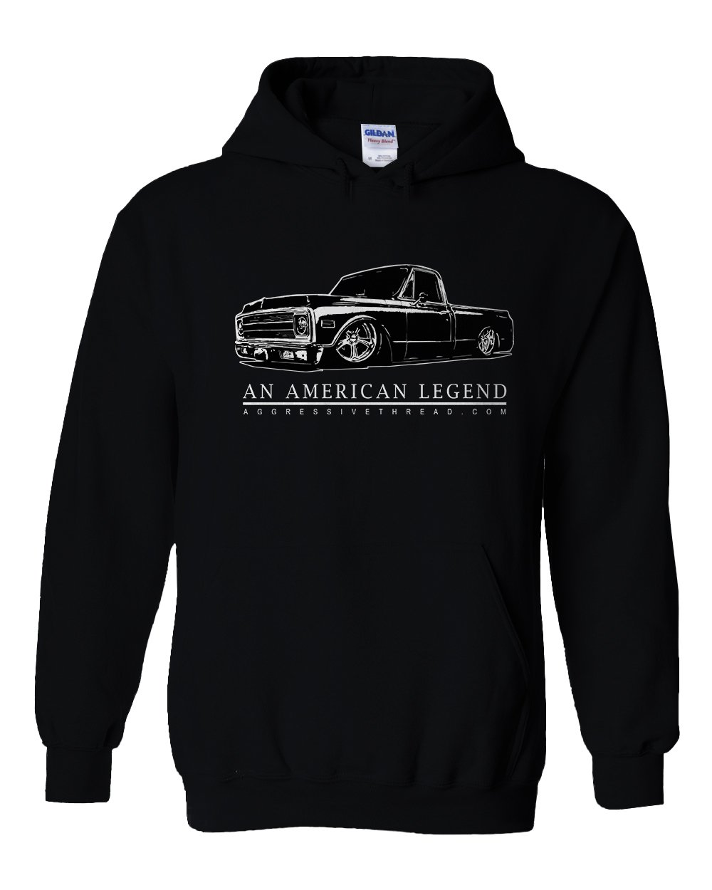 70-72 Chevy C10 Truck Hoodie Sweatshirt | Aggressive Thread Truck Apparel