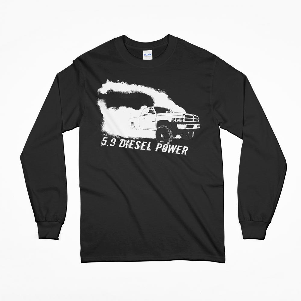 Second Gen Dodge Ram Burnout Rolling Coal Long Sleeve T-Shirt