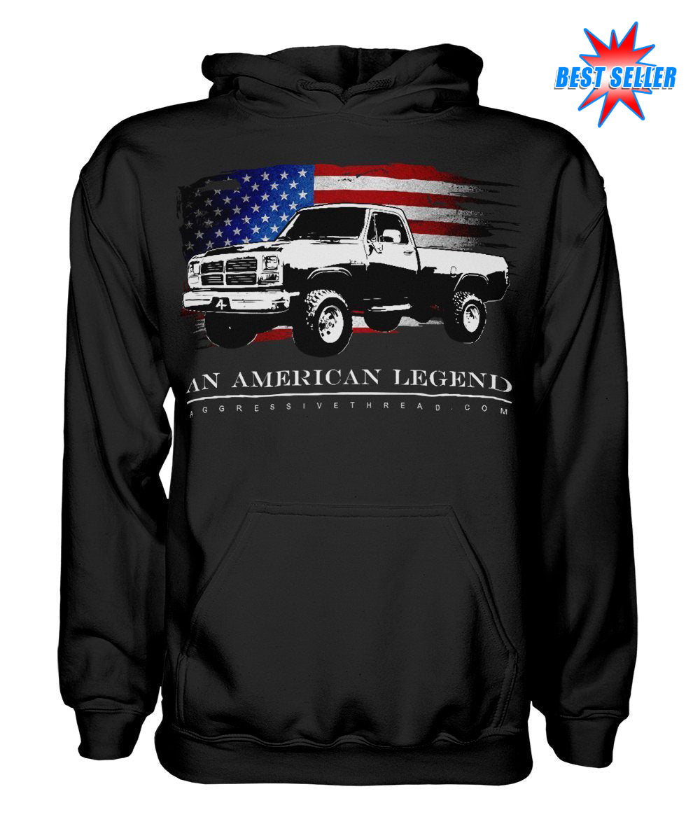 1981-1993 First Gen Dodge Ram Truck Hoodie-Black