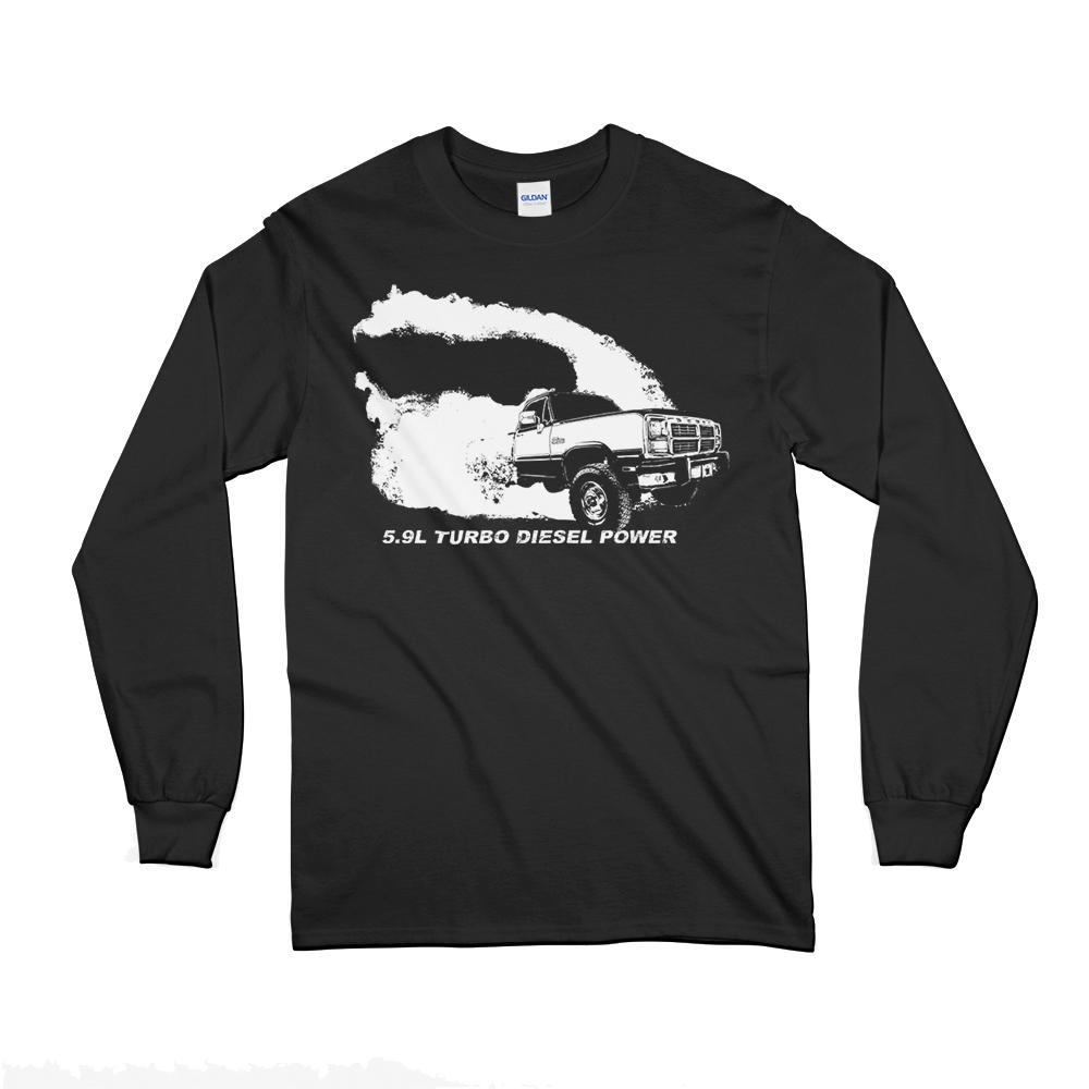 First Gen Dodge Ram Diesel Truck Long Sleeve T-Shirt