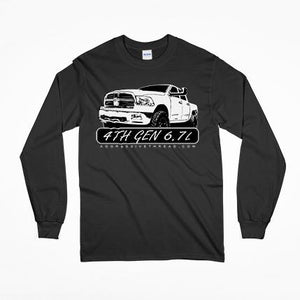4th Gen Cummins 6.7 Dodge Long Sleeve T-Shirt