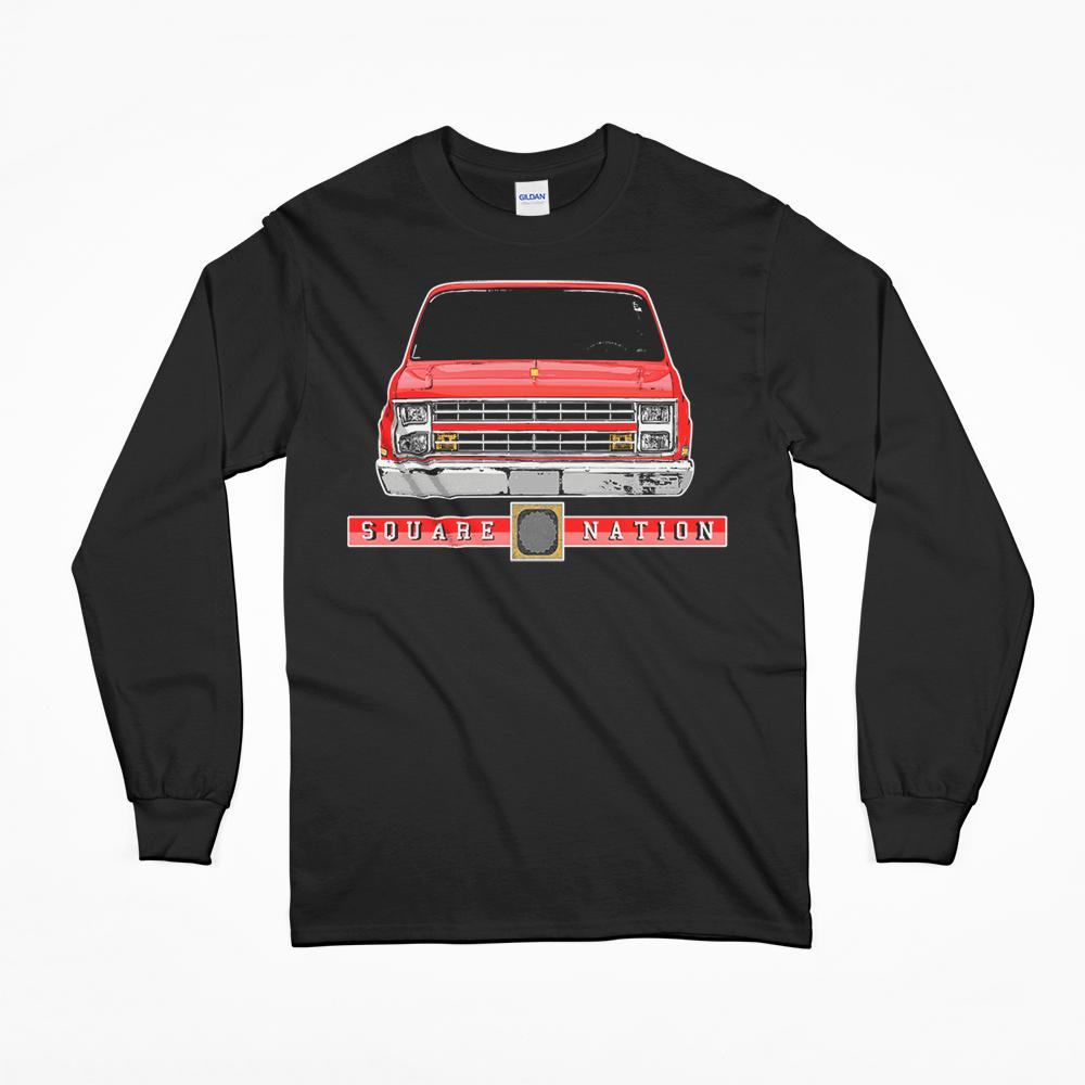 Square Body Chevy C10 T-Shirt From Aggressive Thread