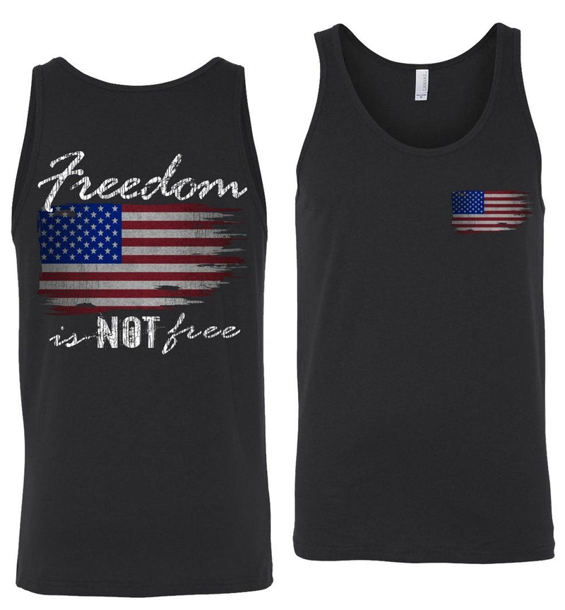 Freedom Is NOT Free Patriotic American Flag Tank Top