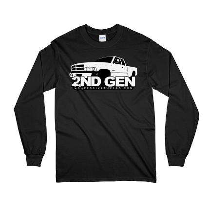 This Long Sleeve Tee is perfect owners of 1994-2002 Dodge Ram Trucks with gas or Cummins Diesel Engines