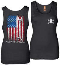 Twisted Wrench American Flag Mechanic Womens Tank (🏷️10% OFF - Purchase 2 Or More Items)
