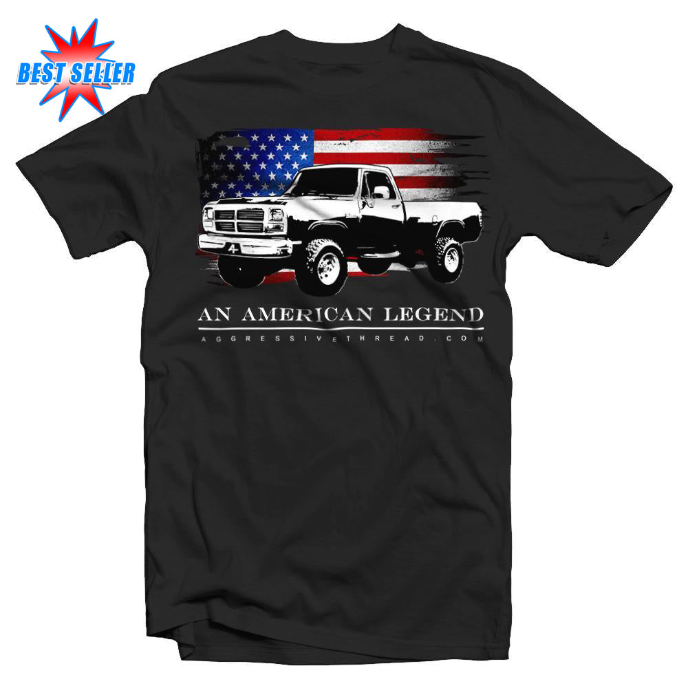 1981-1993 First Gen Dodge Ram Truck T-Shirt-Black