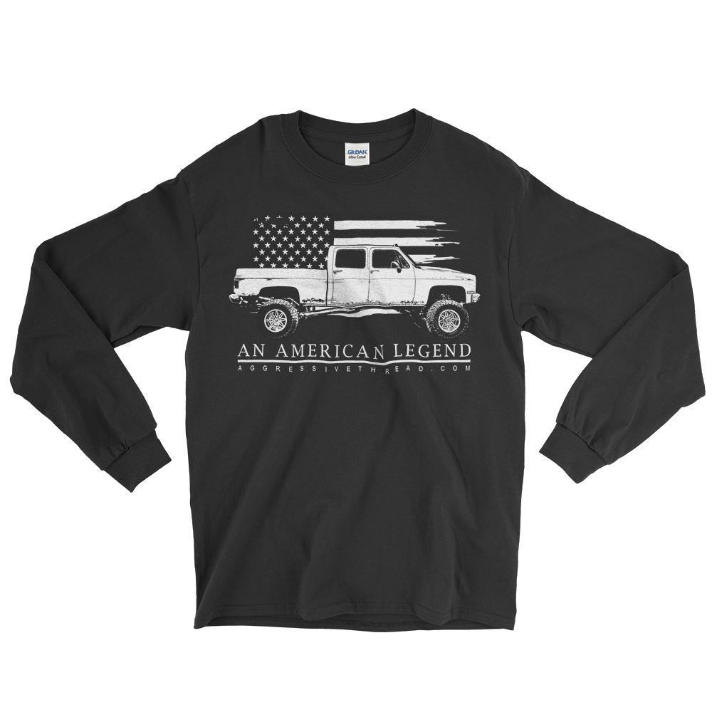 Crew Cab Square Body Chevy Long Sleeve T-Shirt | Aggressive Thread