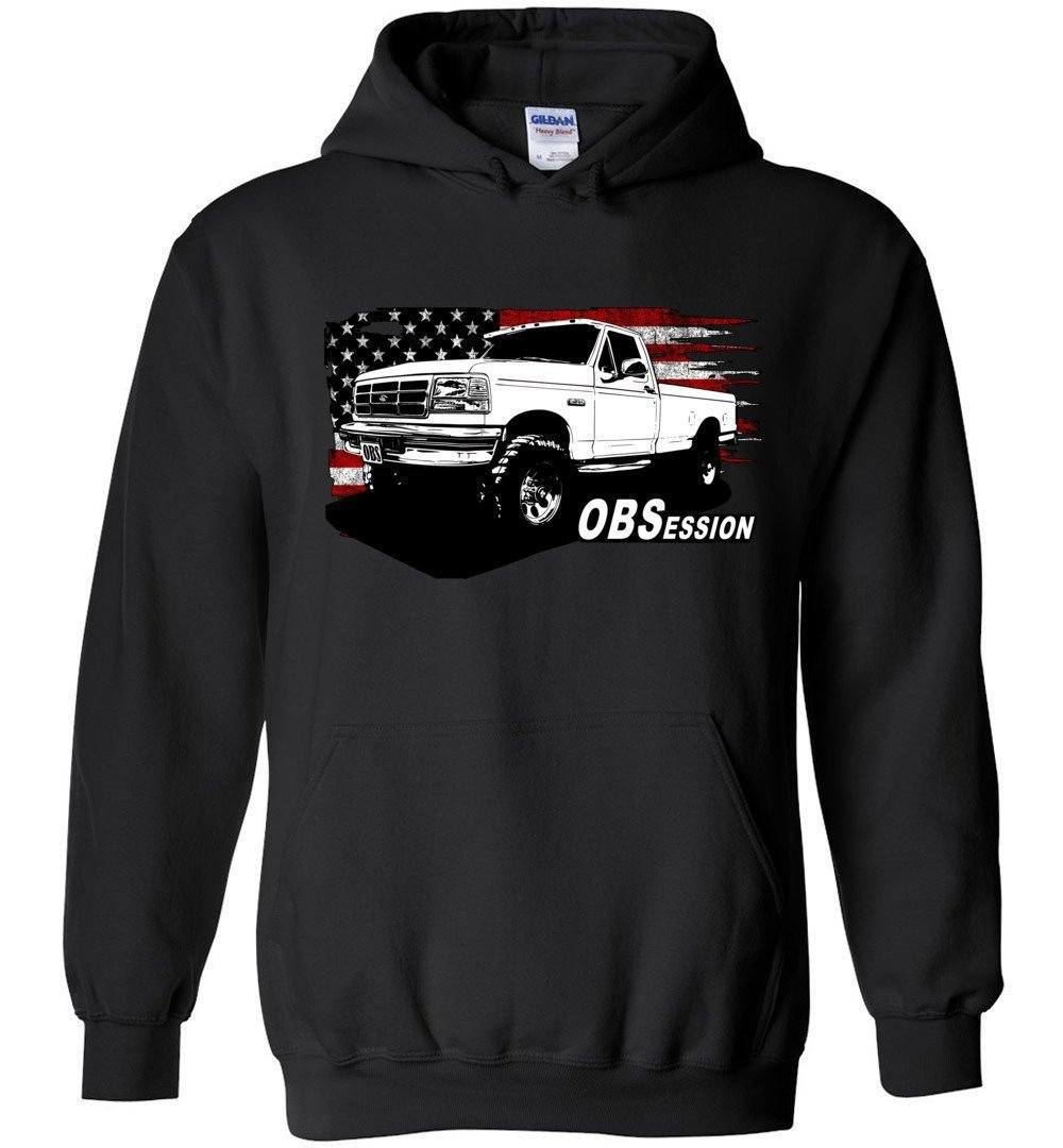 OBS Ford Single Cab Truck American Flag Hoodie Sweatshirt 🏷️Buy a Hoodie - Get 50% Off Any Tee