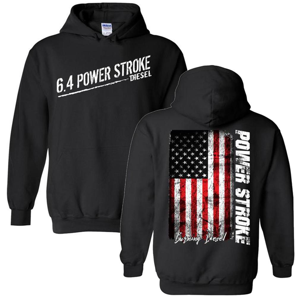 6.4 Power Stroke | Powerstroke Diesel Hoodie Sweatshirt | Aggressive Thread Truck Apparel