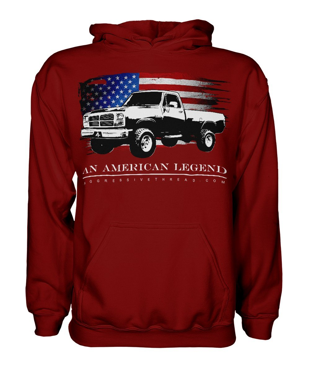 1981-1993 First Gen Dodge Ram Truck Hoodie-red