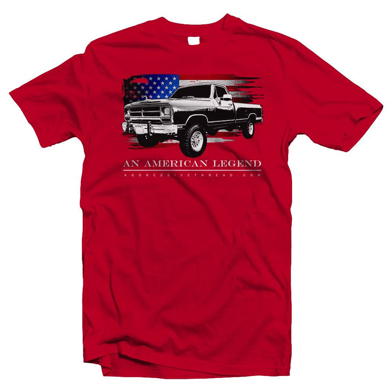 First Gen Dodge Ram T-Shirt With American Flag