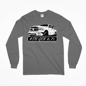 4th Gen Cummins 6.7 Dodge Ram grey Long Sleeve T-Shirt