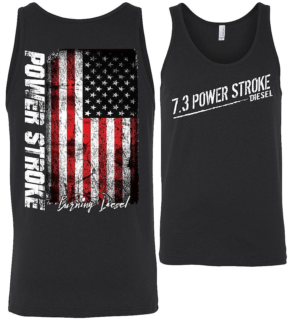 7.3 Power Stroke Powerstroke Burning Diesel Tank Top