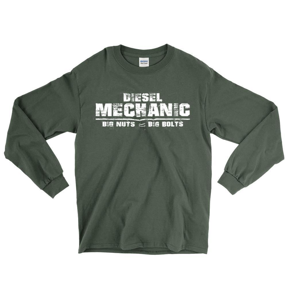 Diesel Mechanic - Big Nuts = Big Bolts Long Sleeve T-Shirt
