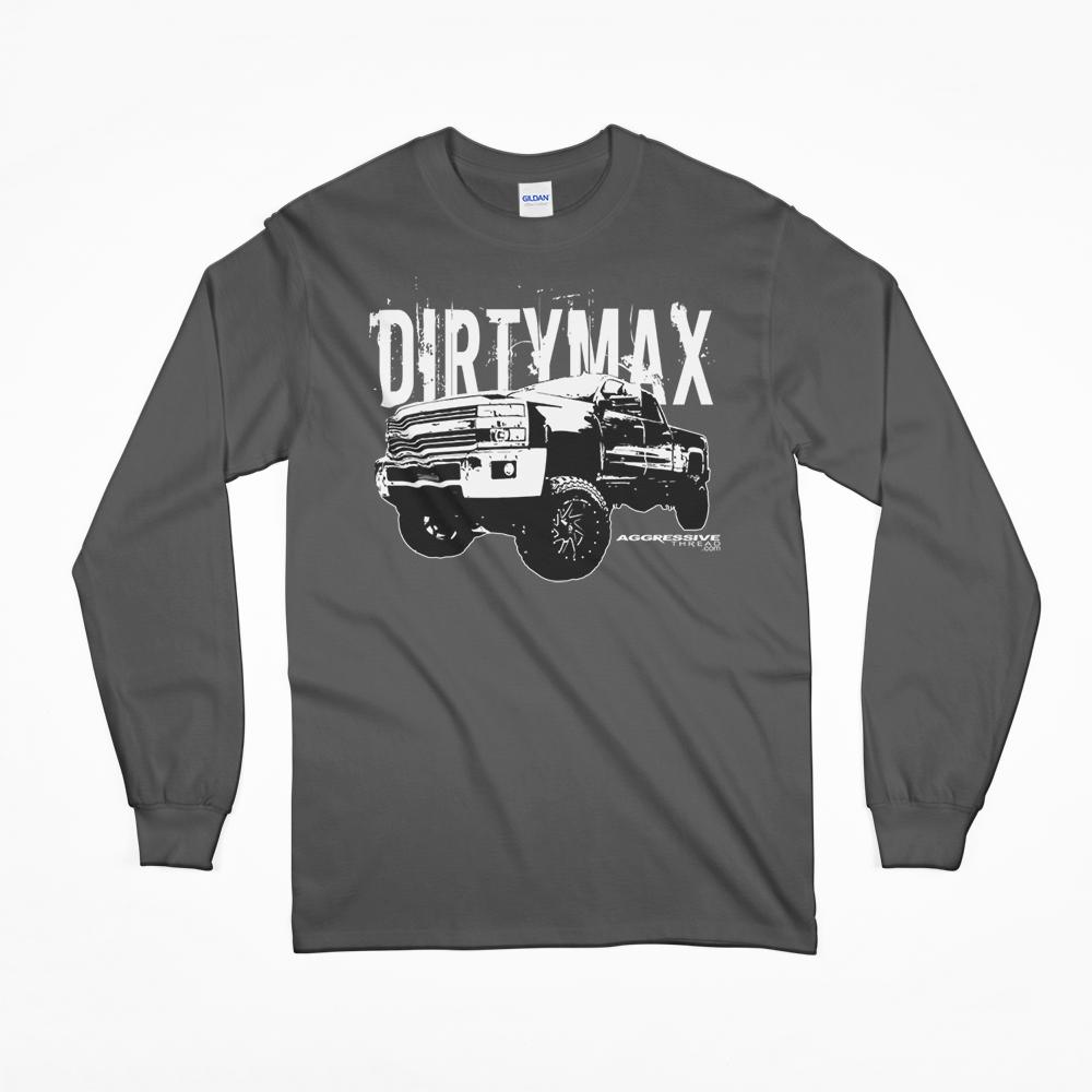 07 08 09 10 Duramax Dirtymax Long Sleeve T-Shirt From Aggressive Thread