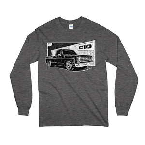 77 Square Body C10 Chevy Long Sleeve T-Shirt