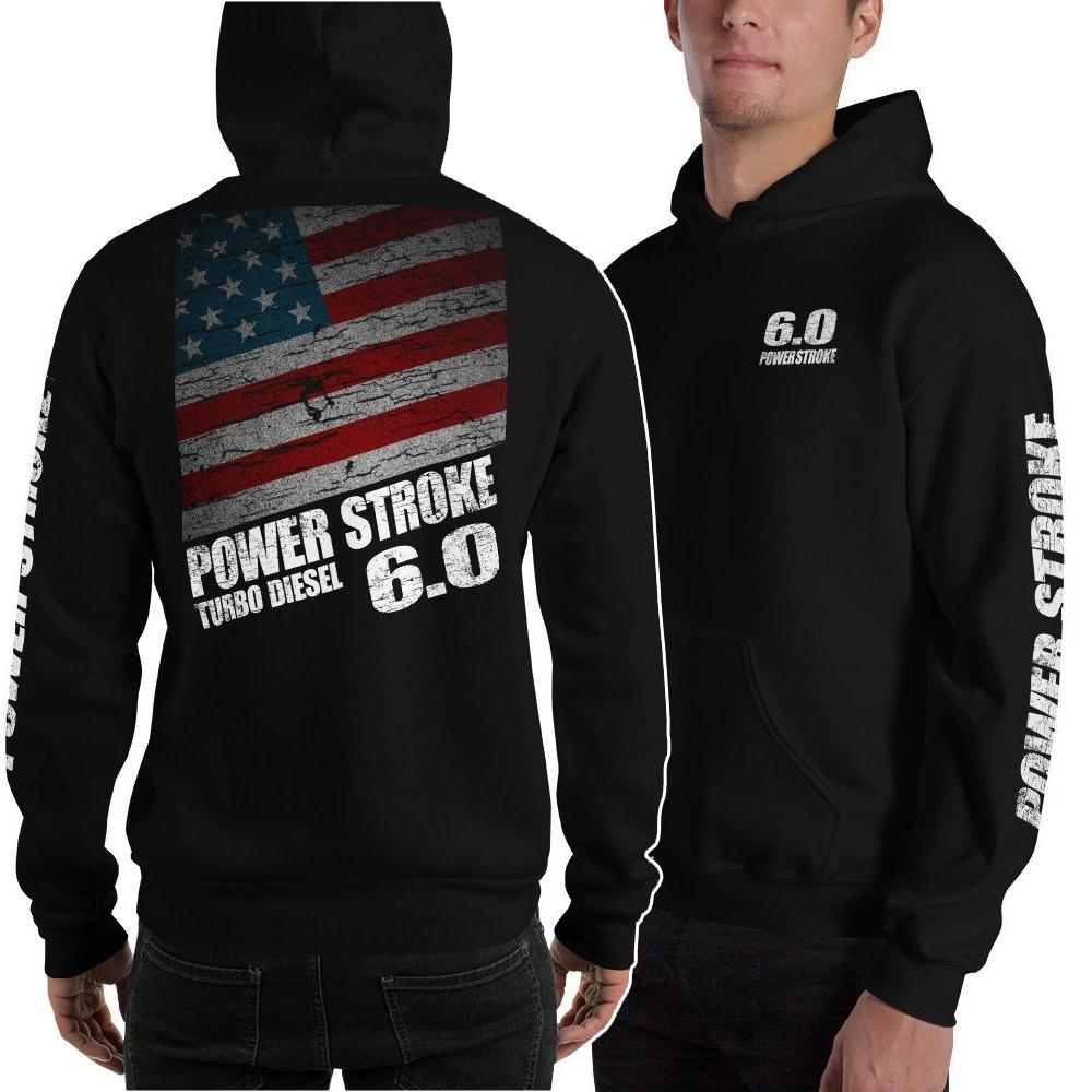 Powerstroke Sweatshirt | Power Stroke Hoodie | Aggressive Thread Diesel Truck Apparel