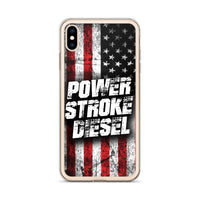 Power Stroke Diesel American Flag iPhone Case