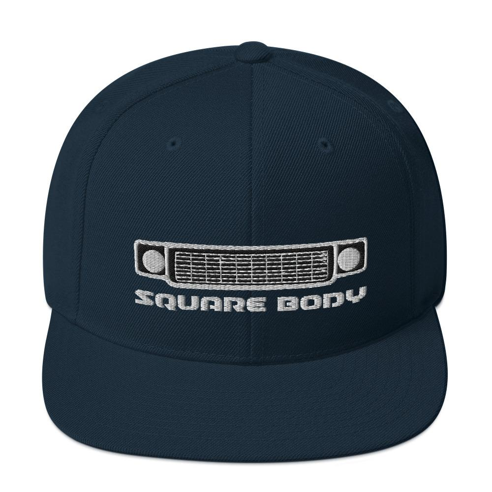 Square Body Squarebody Round Eye Snapback Hat