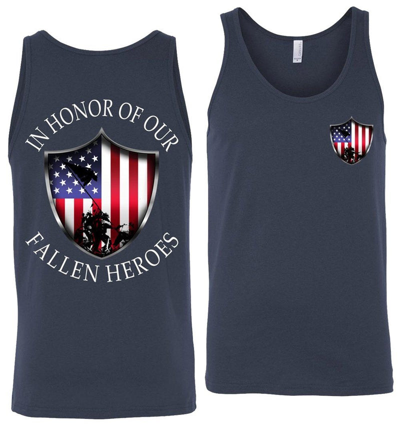 In Honor Of Our Fallen Military Tank Top | American Flag