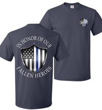 Thin Blue Line Police T-Shirt | Aggressive Thread Patriotic Apparel