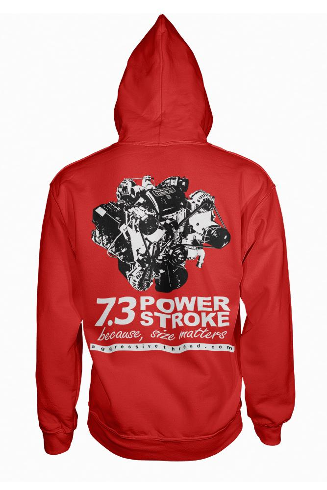 Powerstroke Hoodie | Power Stroke Sweatshirt | Aggressive Thread Diesel Truck Apparel