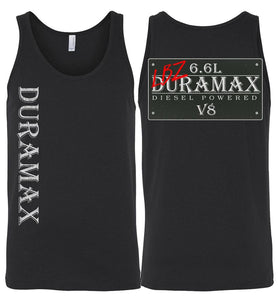 Aggressive Thread LBZ Duramax Black Tank Top Diesel Truck Apparel