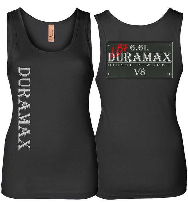 Black LB7 Duramax Diesel Truck Womens Tank Top From Aggressive Thread Truck Apparel