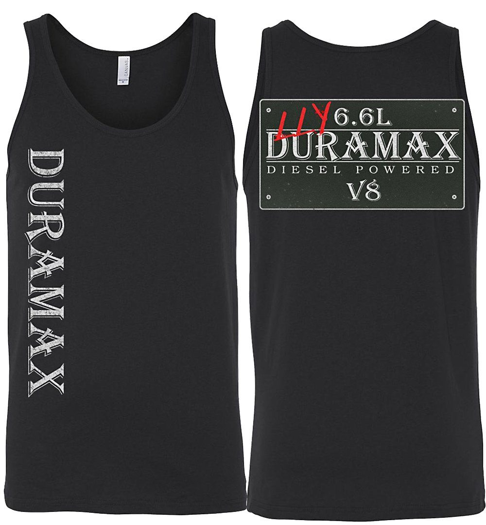 Aggressive Thread LLY Duramax Black Tank Top Diesel Truck Apparel