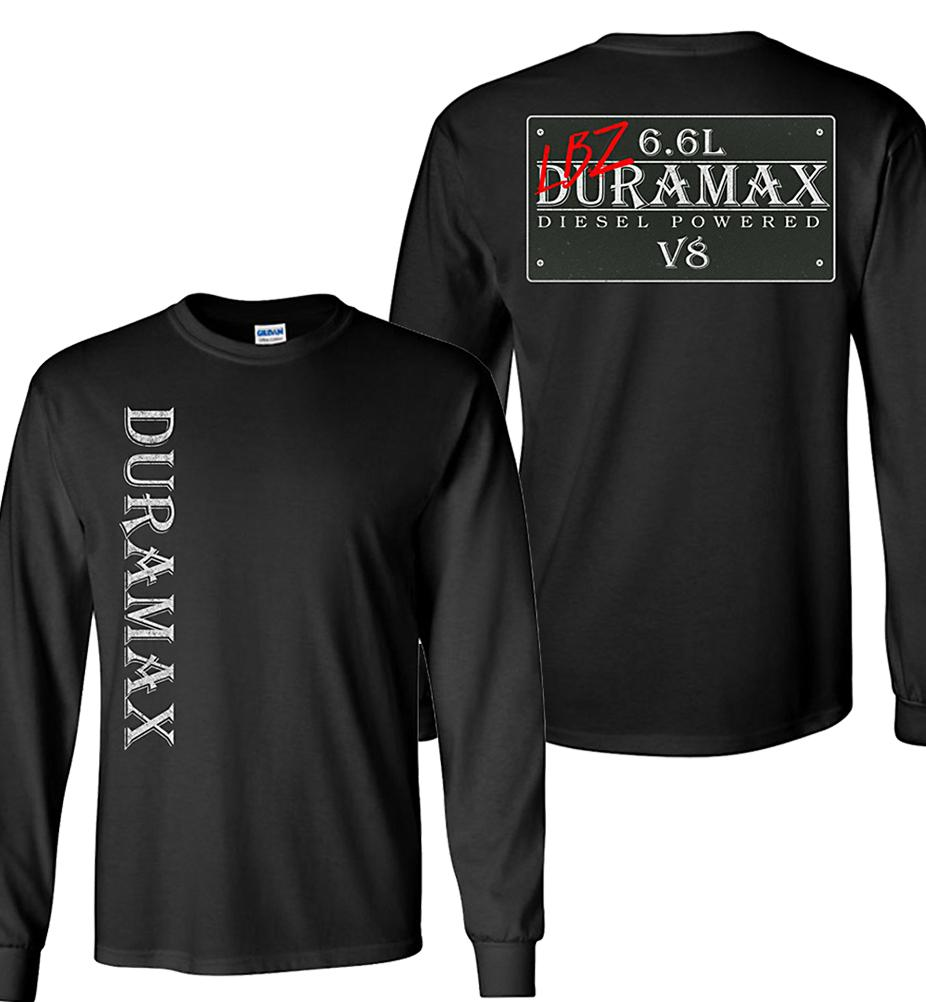Black Duramax LBZ Diesel Truck Shirt from Aggressive Thread Truck Apparel
