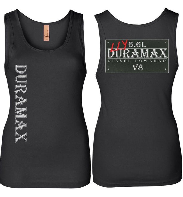 Black LLY Duramax Diesel Truck Womens Tank Top From Aggressive Thread Truck Apparel