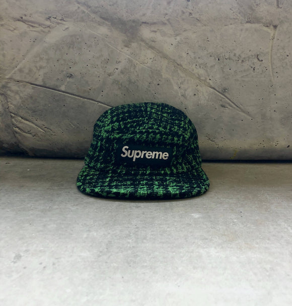 Supreme Broken Houndstooth Cap