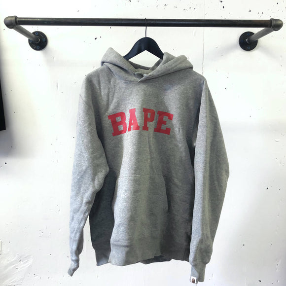 Gray Bape pullover hoodie