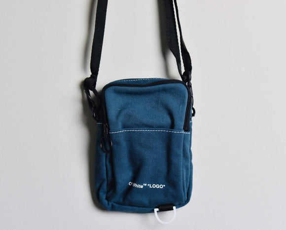 Off-white Navy Bonded Jersey Bag