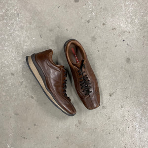 Prada Brown Leather Shoes