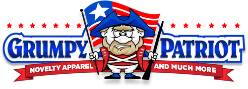 GRUMPY PATRIOT NOVELTY APPAREL. T-SHIRTS, POSTERS, MUGS, HATS, CAPS, TANK TOPS
