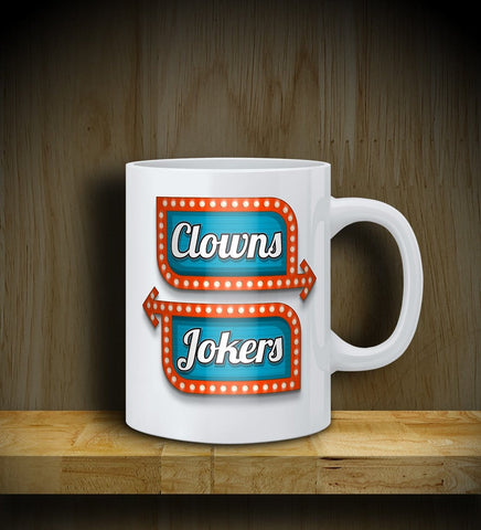 MUG: Clowns Left Jokers Right