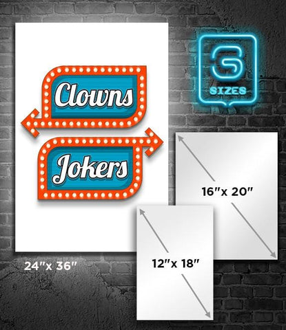 POSTER: Clowns Left Jokers Right