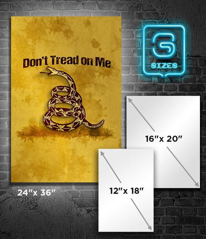 POSTER: DOn't Tread on Me