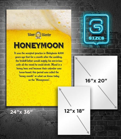 POSTER: Beer Banter: Honeymoon