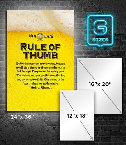 POSTER: Beer Banter: Rule of Thumb