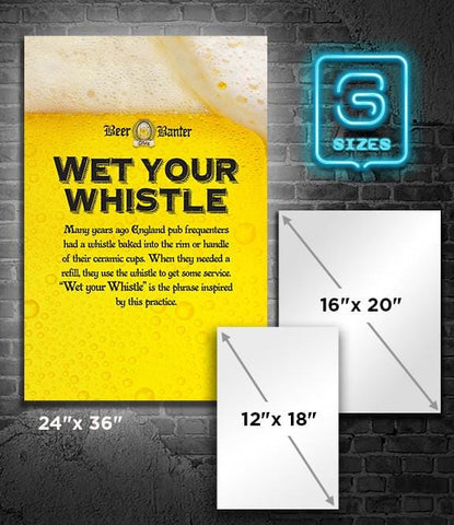 POSTER: Beer Banter: Wet your Whistle