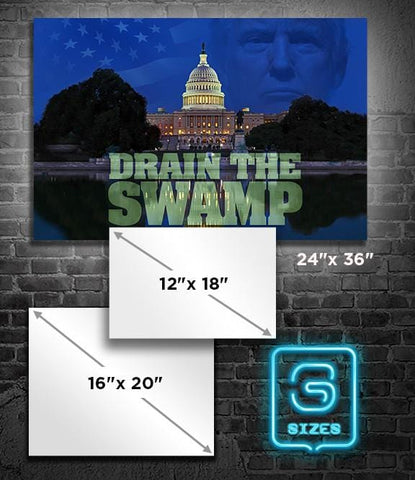 POSTER: Drain the Swamp - Horizontal