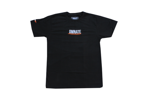 Embroidered Underline T-Shirt Black