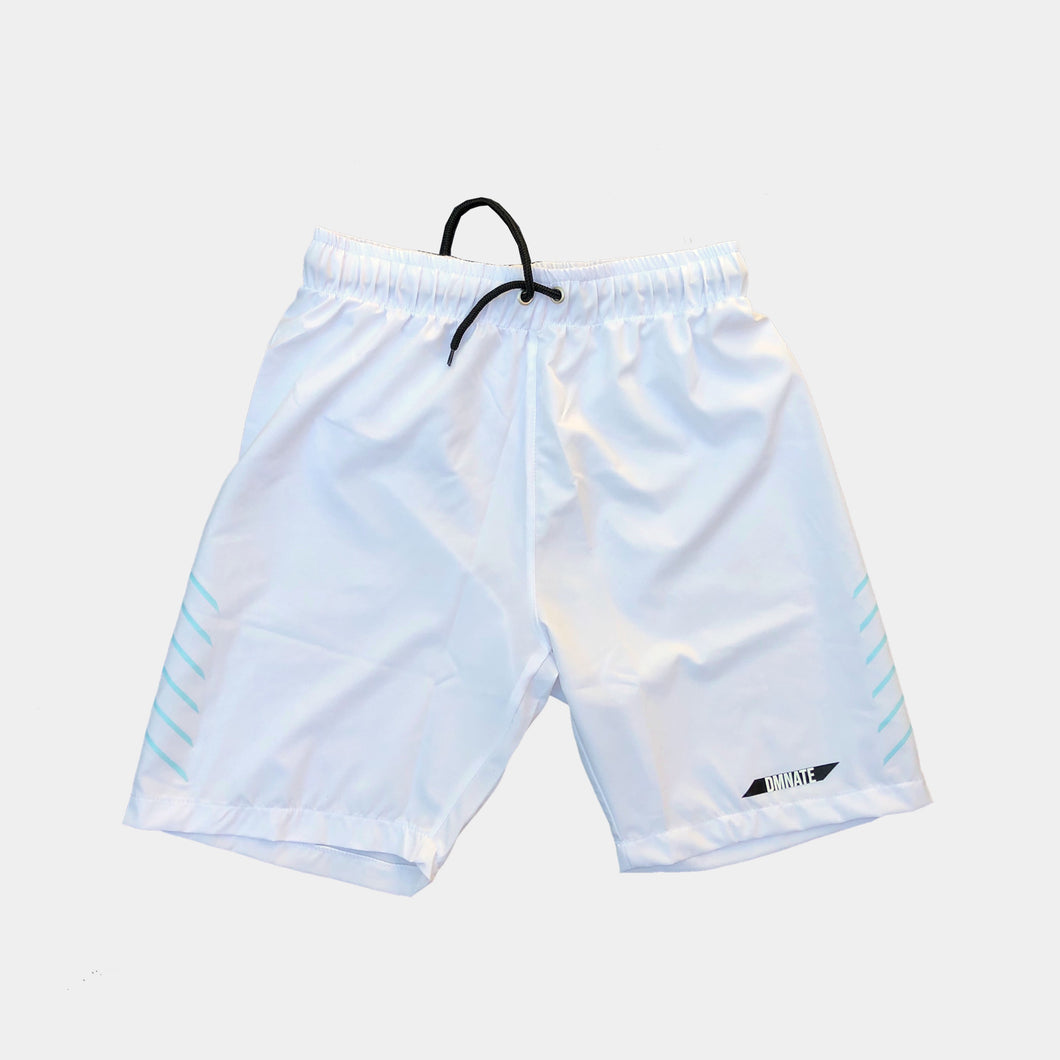 Spend summer days by the water with DMNATE White Swim Short's comfortable and sleek swim short design.