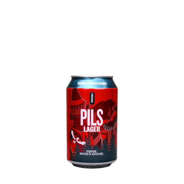 Four Pure Pils Lager (24 cans)