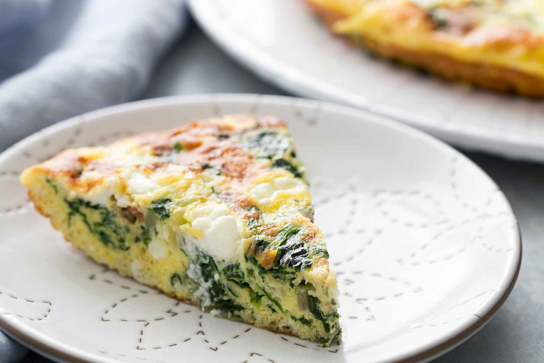 Healthy Greek Frittata without the olives :)